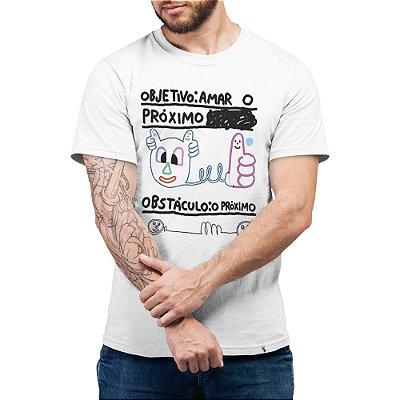 Objetivo: Amar o Próximo - Camiseta Basicona Unissex