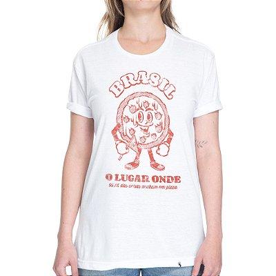 Tudo Acaba em Pizza - Camiseta Basicona Unissex