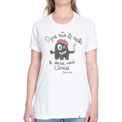 O Que Não Te Mata - Camiseta Basicona Unissex