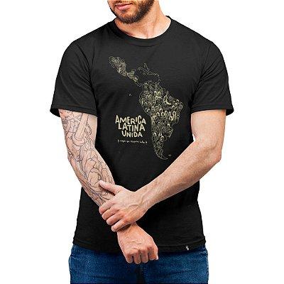 América Latina Unida - Camiseta Basicona Unissex