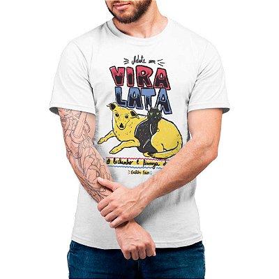 Adote um Vira-lata - Camiseta Basicona Unissex