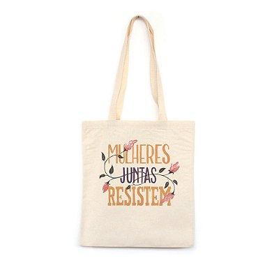 Mulheres Juntas Resistem #azmina  - Bolsa de Lona--