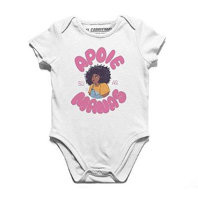 Apoie Suas Manas #azmina - Body Infantil