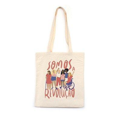 Somos a Revolução #azmina  - Bolsa de Lona--