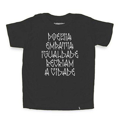 Poesia Empatia Igualdade - Camiseta Clássica Infantil