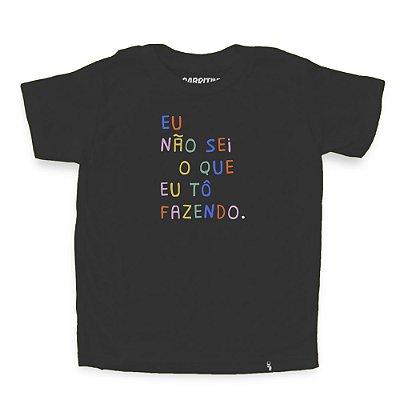 Eu Não Sei O Que Eu To Fazendo - Camiseta Clássica Infantil