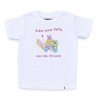 Não Sou Fofa - Camiseta Clássica Infantil