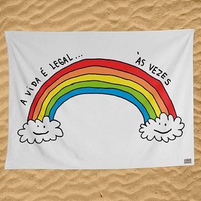 A vida é legal - Canga / Bandeira - Pré-venda