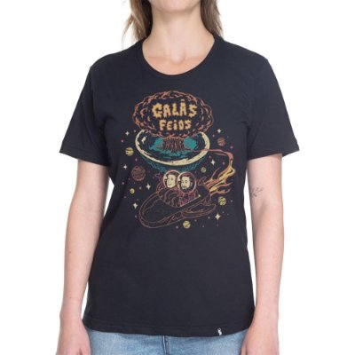 Explodindo a Terra Plana  - Camiseta Basicona Unissex