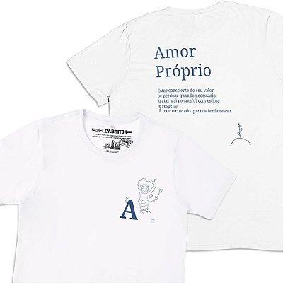 A de Amor Próprio - Camiseta Clássica Masculina-Branca-G