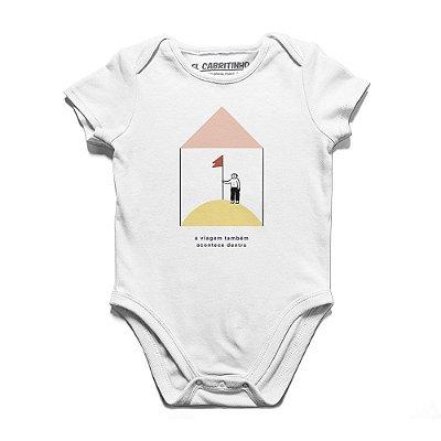 A Viagem Também Acontece Dentro #cestabasica - Body Infantil