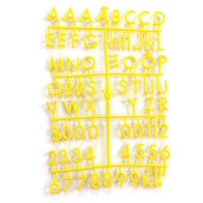Alfabeto Amarelo - Placa de Padoca