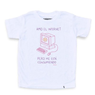 Amo El Internet - Camiseta Clássica Infantil