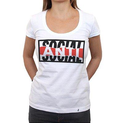 Anti-social - Camiseta Clássica Feminina