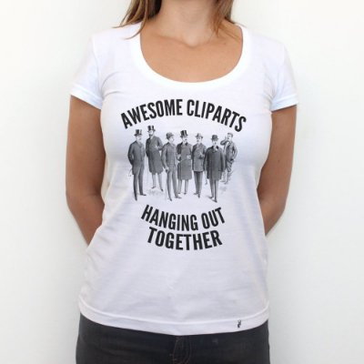 Awesome Cliparts - Camiseta Clássica Feminina