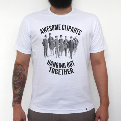 Awesome Cliparts - Camiseta Clássica Masculina