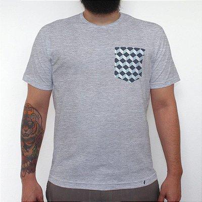 Azulejo - Camiseta Clássica com Bolso Masculina