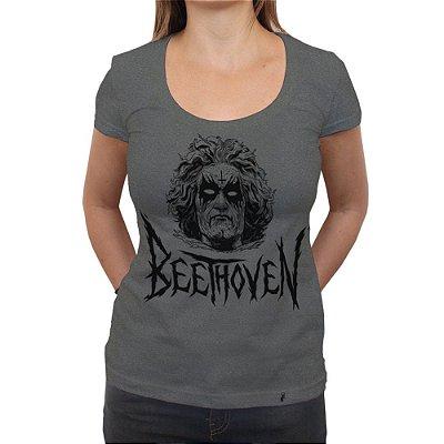Black Beethoven - Camiseta Clássica Premium Feminina