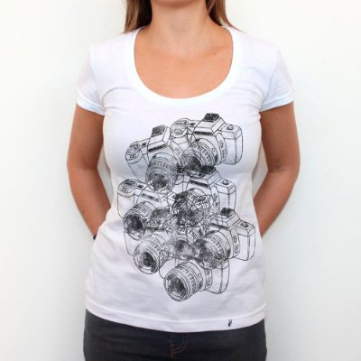 Cameras - Camiseta Clássica Feminina
