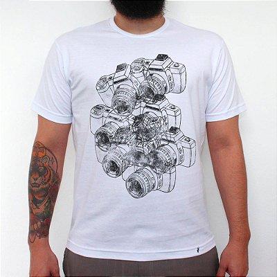 Cameras - Camiseta Clássica Masculina