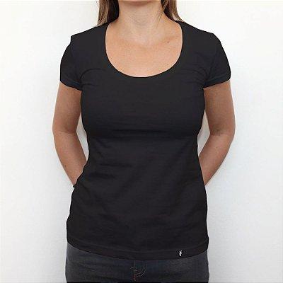 Camiseta Clássica Azul Escuro - Camiseta Clássica Feminina