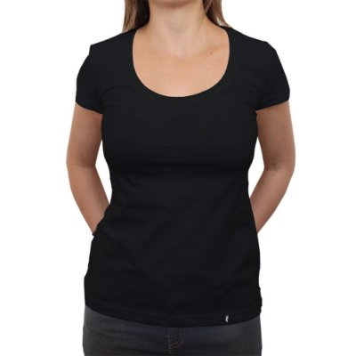 Camiseta Clássica Feminina Lisa Preta