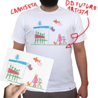 CAMISETA DO FUTURO ARTISTA - Camiseta Clássica Masculina