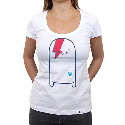 Cuti Bowie - Camiseta Clássica Feminina