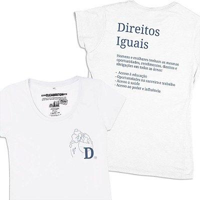 D de Direitos Iguais - Camiseta Clássica Feminina