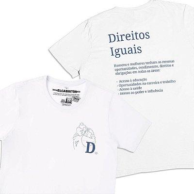 D de Direitos Iguais - Camiseta Clássica Masculina