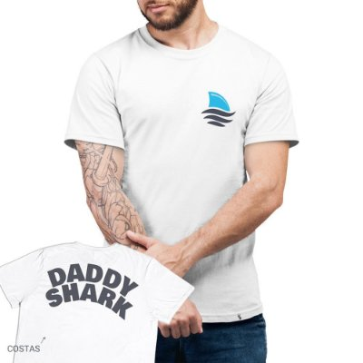 Daddy Shark - Camiseta Basicona Unissex