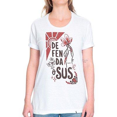 Defenda o SUS #cestabasica - Camiseta Basicona Unissex