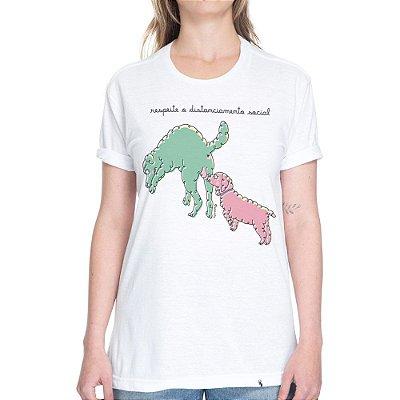 Distanciamento Social #cestabasica - Camiseta Basicona Unissex