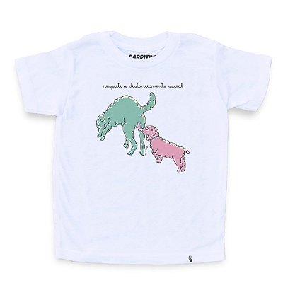Distanciamento Social #cestabasica - Camiseta Clássica Infantil