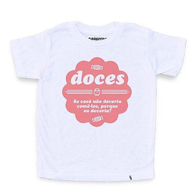 Doce Não - Camiseta Clássica Infantil