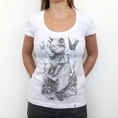 Doces ou Travessuras - Camiseta Clássica Feminina