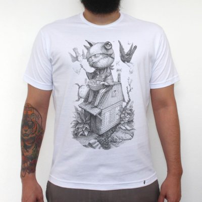 Doces ou Travessuras - Camiseta Clássica Masculina
