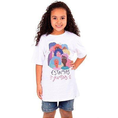 Estamos Juntas - Camiseta Clássica Infantil