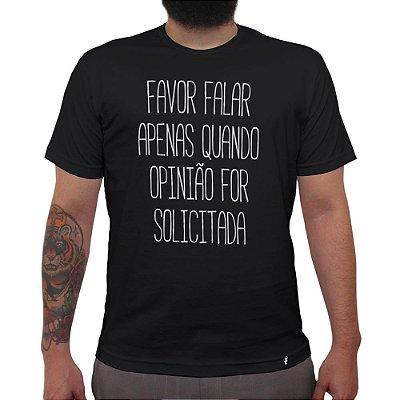 Favor Não Falar - Camiseta Clássica Masculina