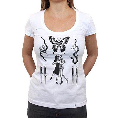 Flashes Tattoo - Camiseta Clássica Feminina