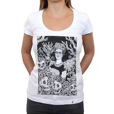 Frida rogai por nós III - Camiseta Clássica Feminina