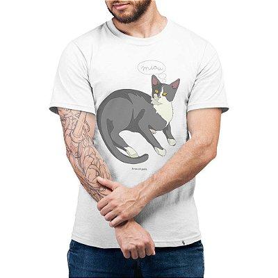 Gatês - Camiseta Clássica Masculina