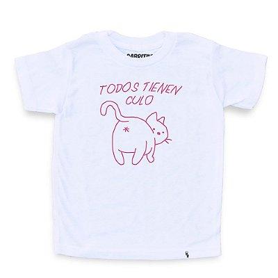 Gatíneos Tienen Culo - Camiseta Clássica Infantil