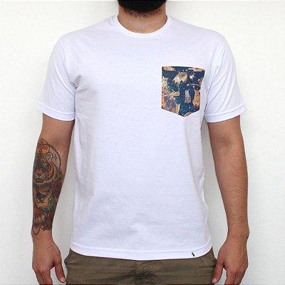Gatos 1000 - Camiseta Clássica com Bolso Masculina
