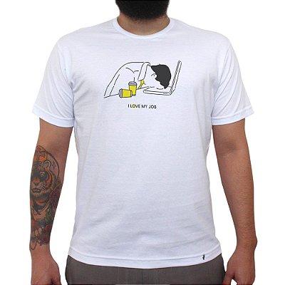 I Love My Job - Camiseta Clássica Masculina