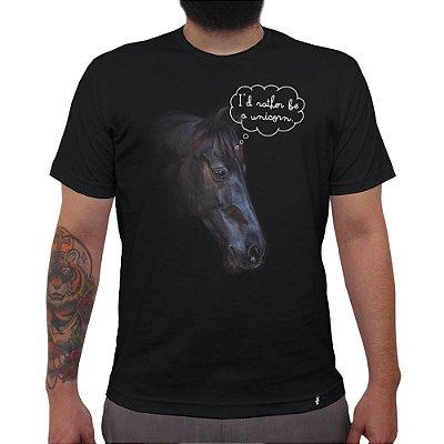 Id Rather Be a Unicorn - Camiseta Clássica Masculina