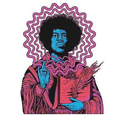 Jimi Hendrix - Camiseta Raglan Manga 3/4 Infantil