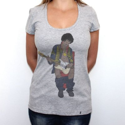 Jimi in Bathroom - Camiseta Clássica Feminina