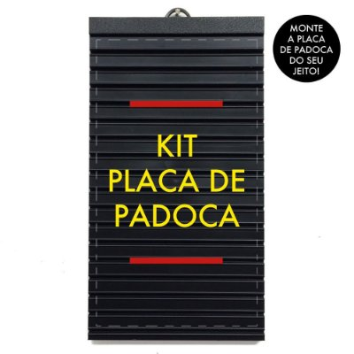 Kit Placa de Padoca