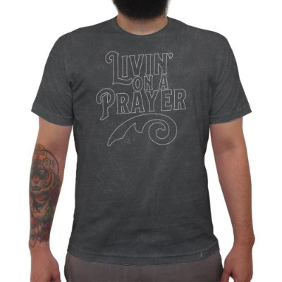 Livin On a Prayer - Camiseta Clássica Premium Masculina